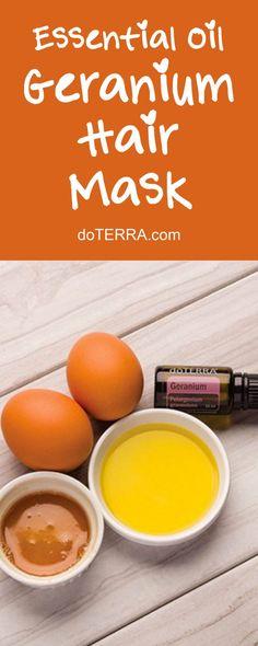 doTERRA Essential Oils DIY Geranium Hair Mask Recipe