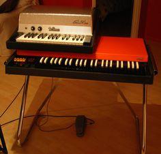 Ray Manzarek's keyboard setup... love the Fender Piano Bass!