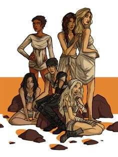 "sterlingsundries: "" Furiosa and the wives! Apocalypse Survivor, Imperator Furiosa, Mad Max Fury Road, Original Trilogy, Lotr, Halloween Costumes, Fandoms, Fan Art, Adventure"