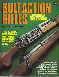 Work out all the details of every major design since the Mauser of 1871 with this essential volume. Author Frank de Haas analyzes 121 turnbolt actions -- how they function, takedown/assembly, strengths and weaknesses and dimensional specs.