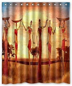 Ancient Western Cowboy Bathroom Fabric Shower Curtain With Hooks 71X71 Inches