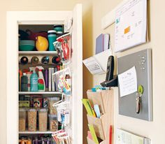 Wall-mountable solutions for kitchen organization in pantry
