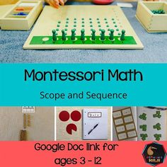 Golden Beads, Coloured Beads, Bead chains, Trinomial cube! The montessori math curriculum is huge! There is so much information out there on the internet.  How do you know though where it all fits?  I've put this scope and sequence together for you to help you work out where those lessons and materials fit.  I've organised it by cycle e.g 3-6, 6-9 and 9-12. Note this is a guide only. Montessori Math, Montessori Elementary, Elementary Math, Curriculum, Homeschool, Chains, Cube, Kids Rugs