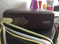 Lds Personal Progress ribbons- scripture bookmark