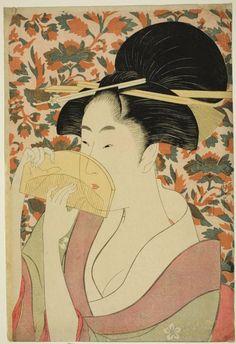 Kitagawa Utamaro, Woman holding a comb (1795-1796)
