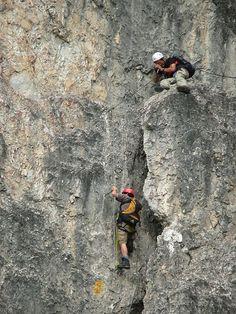 Klettersteig Nordwand Elferspitze - Österreich - Stubaital Elf, Thrillers, Bergen, Austria, Climbing, Hiking Boots, Wanderlust, Action, Training
