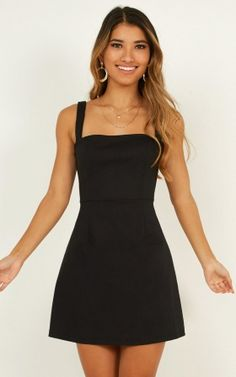 Black dress outfits - Rising Fame Dress In Black Produced – Black dress outfits Elegant Dresses For Women, Pretty Dresses, Sexy Dresses, Casual Dresses, Dresses For Work, Summer Dresses, Fall Dresses, Midi Dresses, Simple Short Dresses