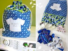 Simply Color by Vanessa Christenson for Moda: Kid's Laundry Duffle   Sew4Home