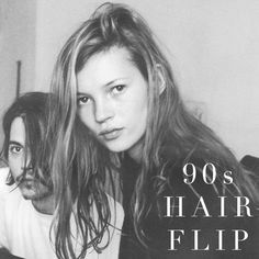 Today we're teaching you how to get the 90's hair flip