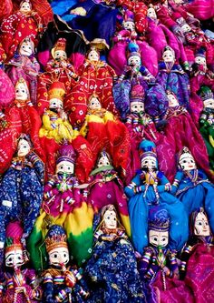 Collection of Indian Folk Dolls and Puppets