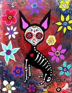 EL PERRITO, PERRO, PERRITO, CHIHUAHUA, DOG, DAY OF THE DEAD, DIA DE LOS MUERTOS…