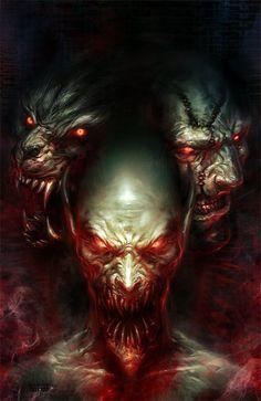 Demônios, guerreiros e furiosas batalhas nas ilustrações de Michal Ivan