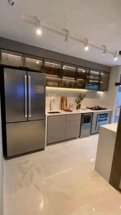 Luxury Kitchen Design, Kitchen Room Design, Room Design Bedroom, Home Room Design, Luxury Interior Design, Bathroom Interior Design, Kitchen Cupboard Designs, Kitchen Ideas, Cuisines Design