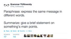 Paraphrase vs summarize