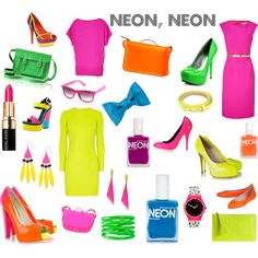 neon accessories...I can't help it, neon just looks like cheap dollar store stuff from the the early 90's.....like it should be plastic, and only considered actually tasetful if you're 5....