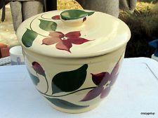 American WATT Pottery Starflower Ice Bucket With Lid MINT! cookie jar