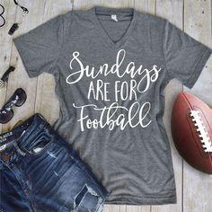 Sundays are for Footbal Tee - Vinyl Tee Shirt - Flowy Tank- Slouchy Tee - Custom…
