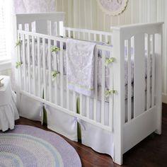 Lovely lavender crib bedding.