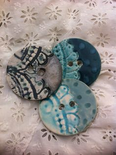 Hand crafted ceramic buttons