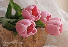 Лепка. Тюльпаны из полимерной глины. Мастер-класс. Обсуждение на LiveInternet - Российский Сервис Онлайн-Дневников