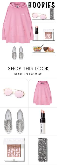 """In My Hood I'm More Happy"" by i-am-cool-girl ❤ liked on Polyvore featuring H&M, Bobbi Brown Cosmetics, Case-Mate and Hoodies"