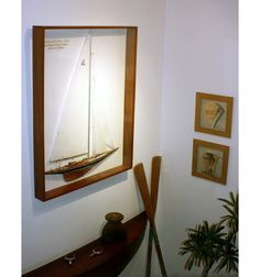 Half Hull Sail Boat Model Endevour