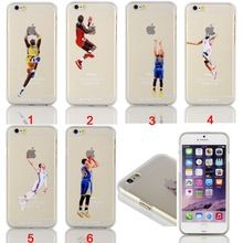 Basketball Star Jordan Kobe Bryant Dunk Transparenter Harter Fall Für iPhone 4/4 s/5/5 s/5c/6/6 s/6 plus/6 s plus(China (Mainland))