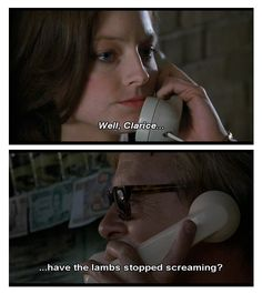 Silence of the Lambs:  Hannibal Lecter  and Clarice Starling