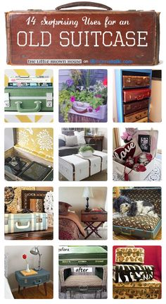 Love me some up-cycled suitcases!