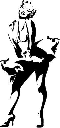 Stickers Marylin Monroe Courant d& - Célèbres& - zone-sticker Marilyn Monroe Stencil, Marylin Monroe Drawing, Marilyn Monroe Pop Art, Marilyn Monroe Painting, Marilyn Monroe Tattoo, Doodle Drawing, Silhouette Art, Dancer Silhouette, Stencil Art