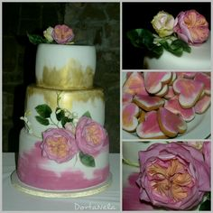 Wedding cake with flowers from edible paper - Cake by DortaNela Paper Cake, Wedding Cakes With Flowers, Beautiful Cakes, Decorative Boxes, Desserts, Food, Tailgate Desserts, Deserts, Eten