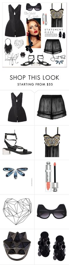 """Statement Piece"" by zabead ❤ liked on Polyvore featuring Monique Lhuillier, Missoni, Salvatore Ferragamo, Manish Arora, Chanel, Bellagio, Christian Dior, Anna-Karin Karlsson, John Brevard and Monies"