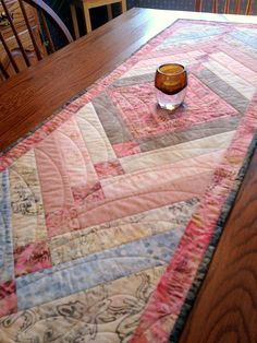 Shades of Spring  Quilted Table Runner by birdsongquilts on Etsy, $55.00
