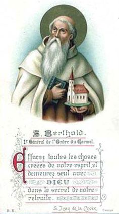 Image of St. Berthold feast day 29th March pray for us.