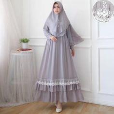 Setelan Gamis Ceruty Polos Syameela Mode Abaya, Mode Hijab, Islamic Fashion, Muslim Fashion, Abaya Fashion, Fashion Dresses, Velvet Dress Designs, Hijab Dress Party, African Print Dress Designs