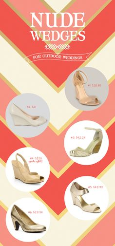 What's Up with The Buells: NUDE WEDGES FOR OUTDOOR WEDDINGS