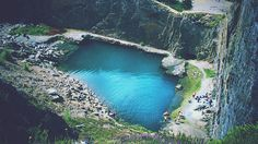 Blue Lagoon, Wales, U.K. I jumped from the top of this not so long ago, was one of the scariest things I'd ever done!