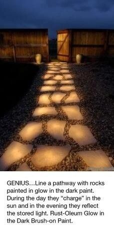 Glowing Walkway with glow in the dark paint