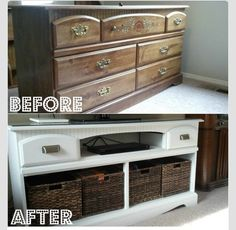 Great Recycled Dresser Idea!