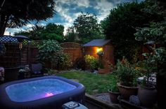 Lay-Z-Spa is the UK's leading inflatable hot tub brand. Portable, durable and great value for money the Lay-Z-Spa range accommodates people. Spa Uk, Hot Tub Surround, Float Spa, Spa Lighting, Hot Tub Garden, Outdoor Spaces, Outdoor Decor, Hot Tubs, House Goals