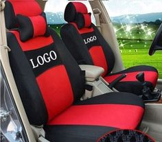 88.82$  Buy now - http://alisdl.shopchina.info/1/go.php?t=32724507800 - grey/red/beige/blue Embroidery logo Car Seat Cover Front&Rear complete 5 Seat For Suzuki S-CROSS Jimny Grand Vitara Four Seasons  #buyininternet