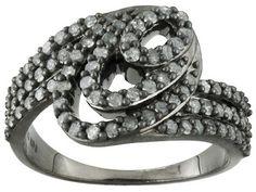 1.00ctw Round Platinum Mist Diamond Rhodium Over Sterling Silver Ring