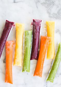EASY RAINBOW FRUIT AND VEGGIE ICE POPS