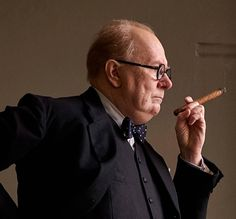 "Gary Oldman is at it again completely unrecognisable (again) as Winston Churchill in the upcoming film ""Darkest Hour""."