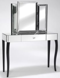 Art Deco Bedroom Furniture - Mirrored Dressing Table WANT! Art Deco Furniture, Furniture Styles, Bedroom Furniture, Mirror Furniture, Casa Art Deco, Art Deco Home, House Of Decor, Home Decor, Dressing Mirror