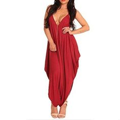 Red Spaghetti Strap Deep V Backless Sleeveless Casual Loose Rompers Jumpsuit    We all love the look of a sexy, trendy and cute casual dress.  I love to wear all types of women's dresses especially ones with a funky, abstract or even floral print.  These dresses are great to wear to work with a jacket or can be worn at night dressed up with jewelry and other fashion accessories.  These are some of the best dresses for women for fashion in 2017.