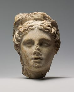 Marble head of a woman wearing a diadem. Roman. 1st or 2nd century A.D. | The Metropolitan Museum of Art