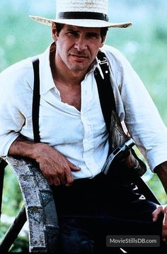 """Harrison Ford in """"Witness"""" (Peter Weir, Harrison Ford Movies, Harrison Ford Indiana Jones, Indiana Jones Films, Saint Yves, Hollywood Men, Hollywood Icons, Harison Ford, Peter Weir, Detective"""