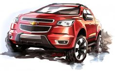 Chevrolet S10 High Country Concept - Design Sketch-01 link: