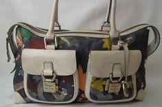 Dooney and Bourke Handbag Satchel Purse Denim Double Pocket Bag  $17.99 @New and Deja Vu Fashion #bonanza store